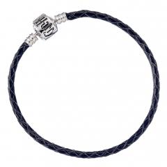 Harry Potter Black Leather Bracelet for Slider Charms Small- HP0029-18