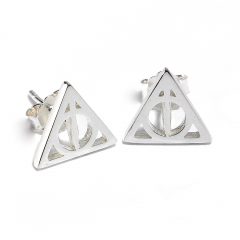 Official Sterling Silver Harry Potter Deathly Hallows Stud Earrings- SE0054