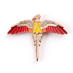 Official Harry Potter Rose Gold Plated Fawkes Pin Badge HPPB0113