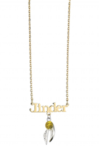 Official Harry Potter Gold Plated, Sterling Silver Personalised Necklace with Golden Snitch Charm  HPSN004-PG