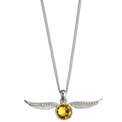 Harry Potter Embellished with Crystals Golden Snitch Necklace - HPSN004
