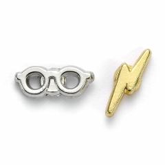 Official Harry Potter Lightening Bolt and Glasses Stud Earrings